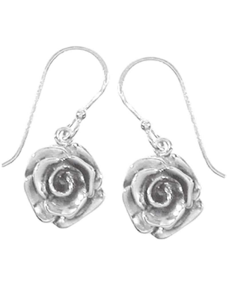 Rose Earrings 12mm