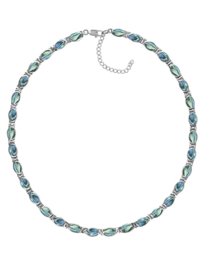 "Oval Abalone Necklace 16""+2"""