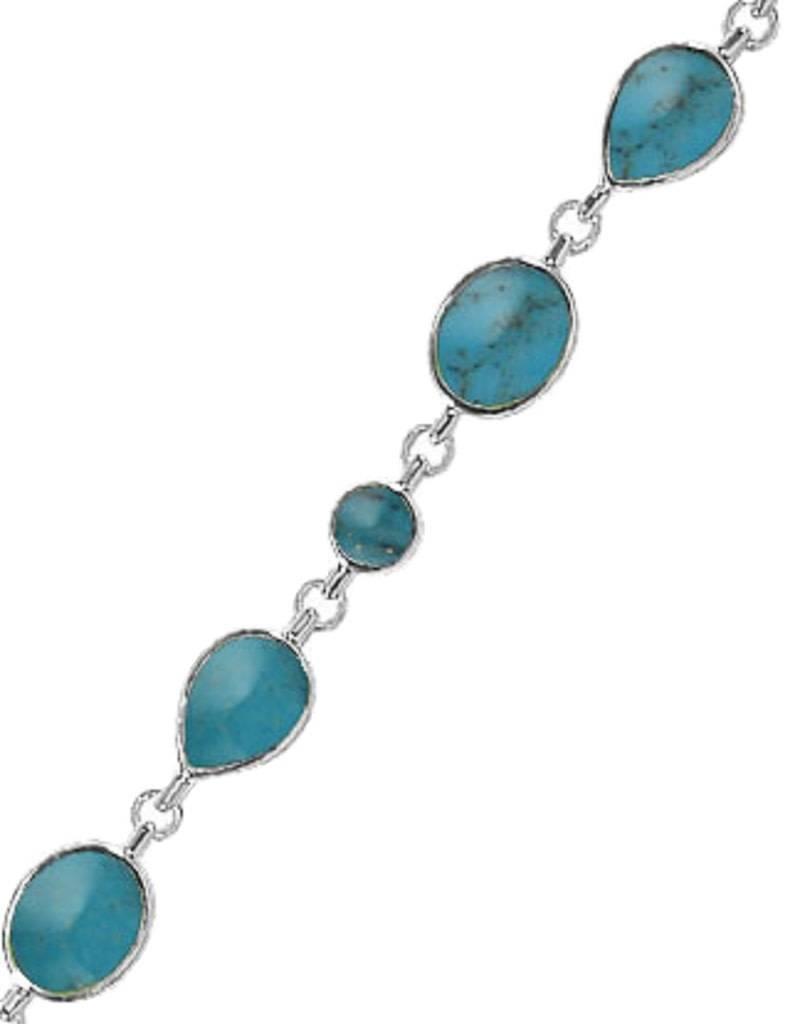 "Turquoise Bracelet 7.5"""