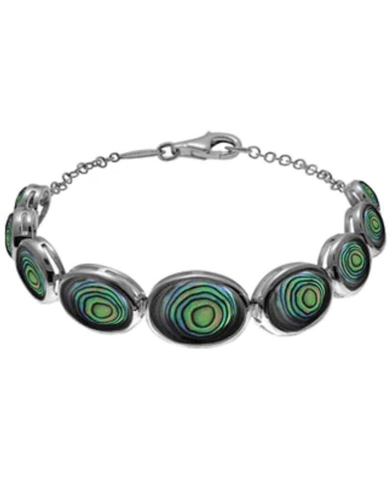 """Oval Abalone Bracelet 7.5"""""""