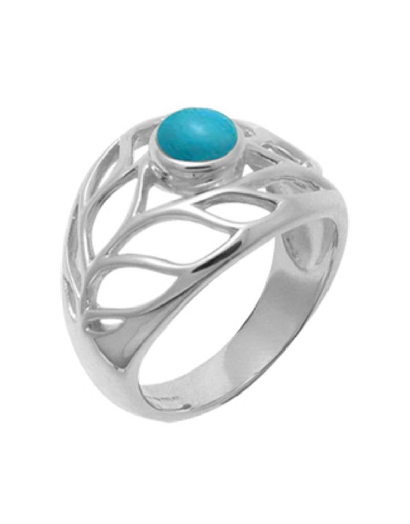 Leaf Turquoise Ring