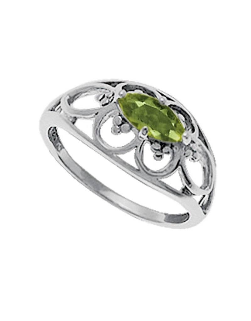 Marquise Peridot Ring