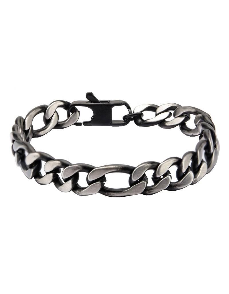 10mm Black Figaro Bracelet