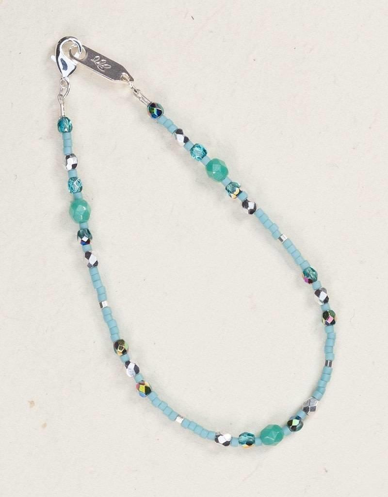 HOLLY YASHI Holly Yashi Turquoise Sonoma Glass Bead Bracelet *18810