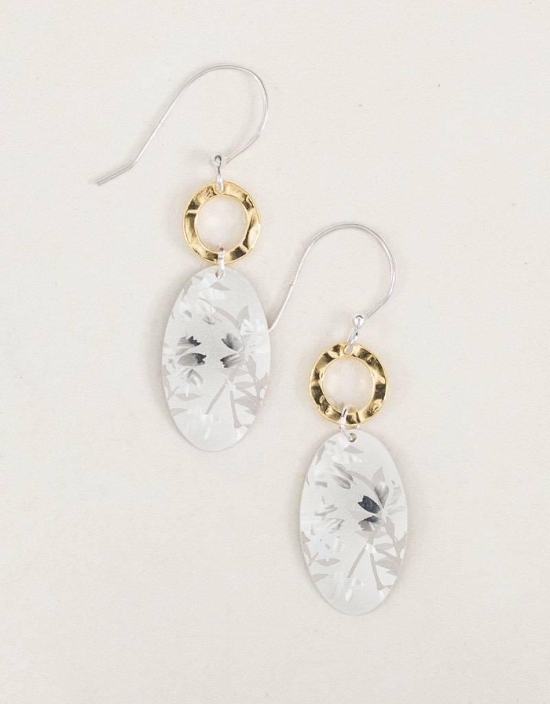 HOLLY YASHI Silver Wild Rose Earrings *96172