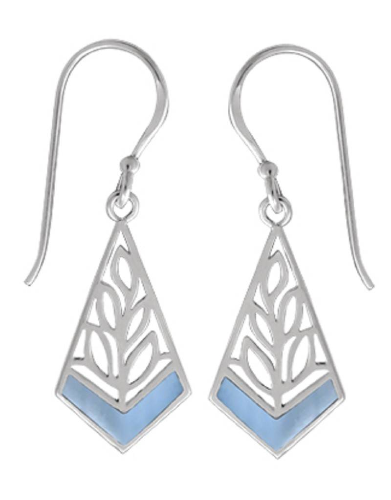 Kite Blue MOP Earrings 18mm