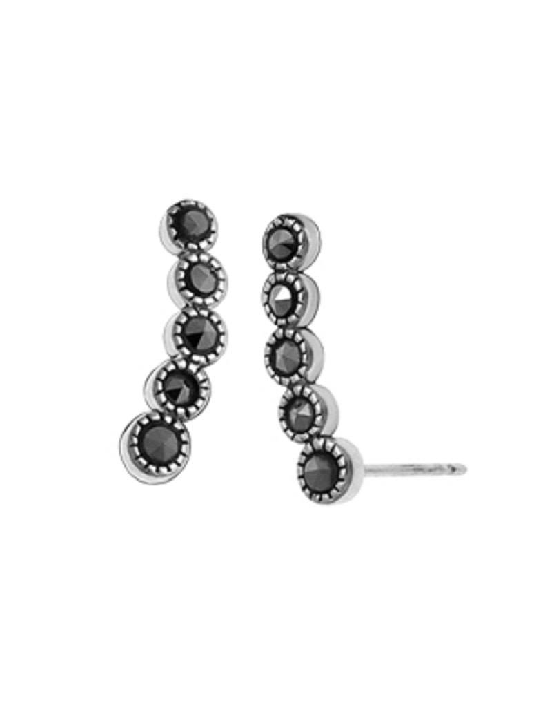 Marcasite Ear Climber Earrings