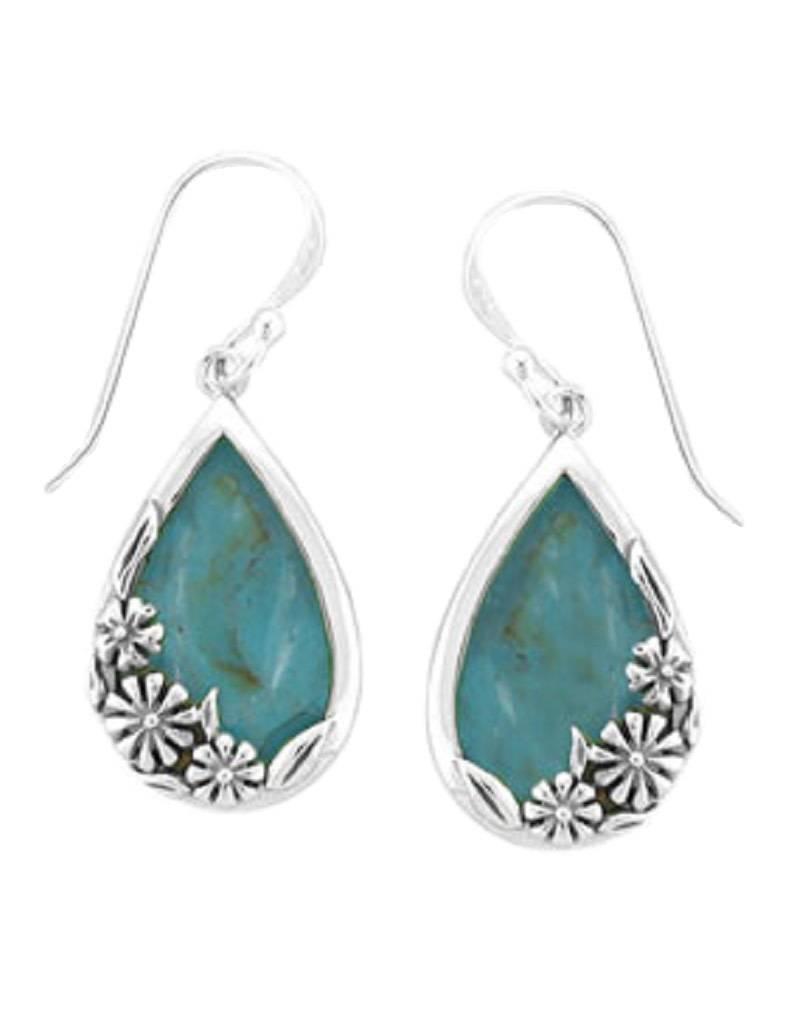 Teardrop Turquoise Earrings 20mm