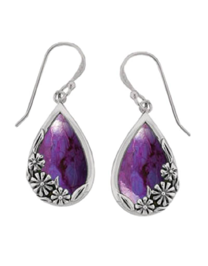 Purple Turquoise Earrings 20mm