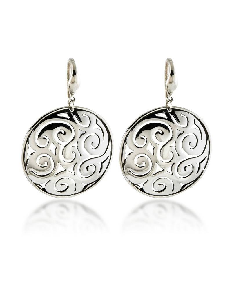 ZINA Round Lace Swirl Earrings 29mm