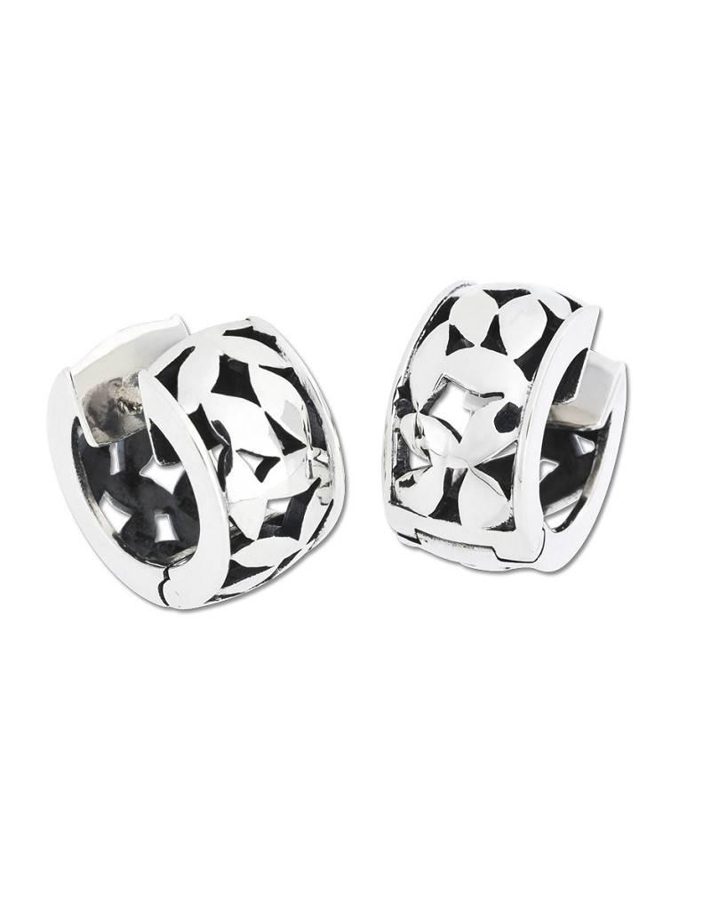 ZINA Confetti Hinged Hoop Earrings 16mm