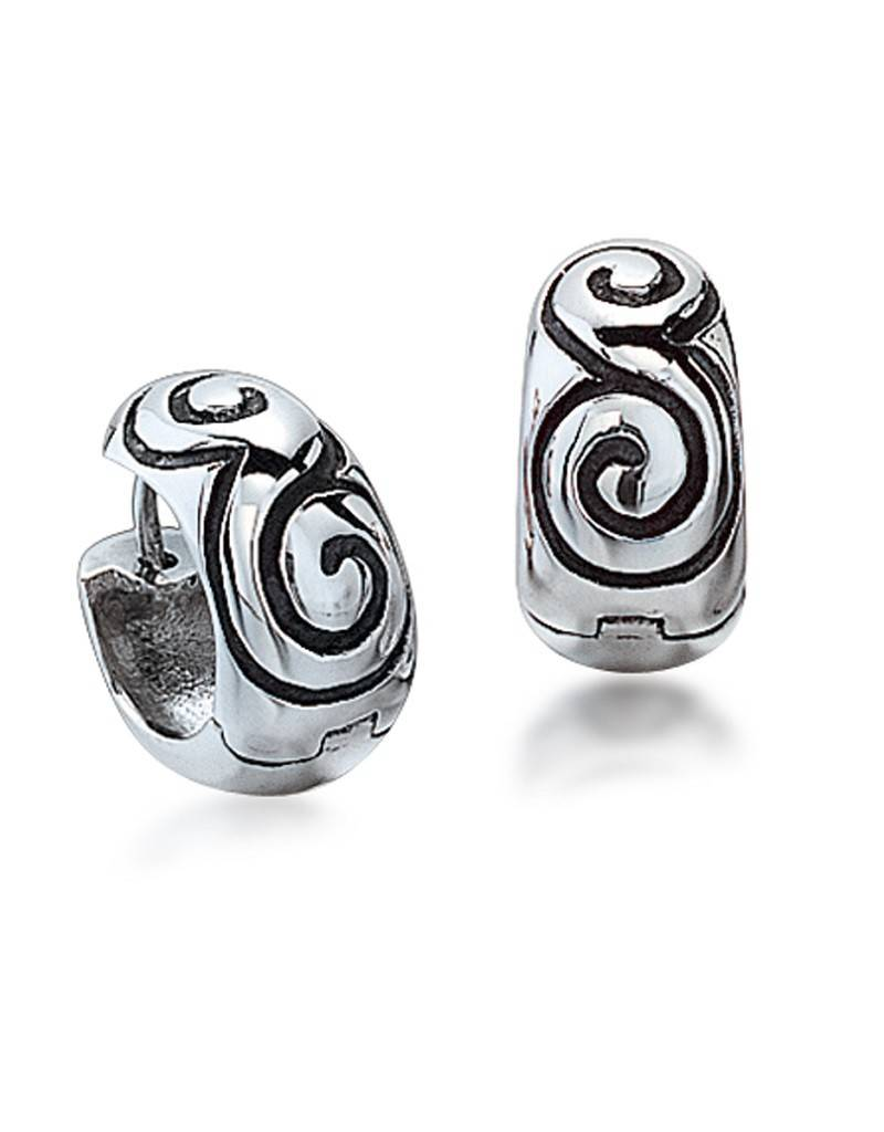 ZINA Round Swirl Huggie Earrings 15mm