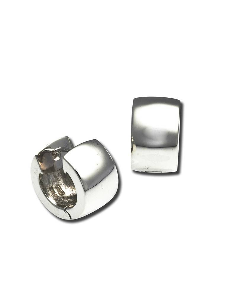 ZINA Round Wide Huggie Earrings 16mm