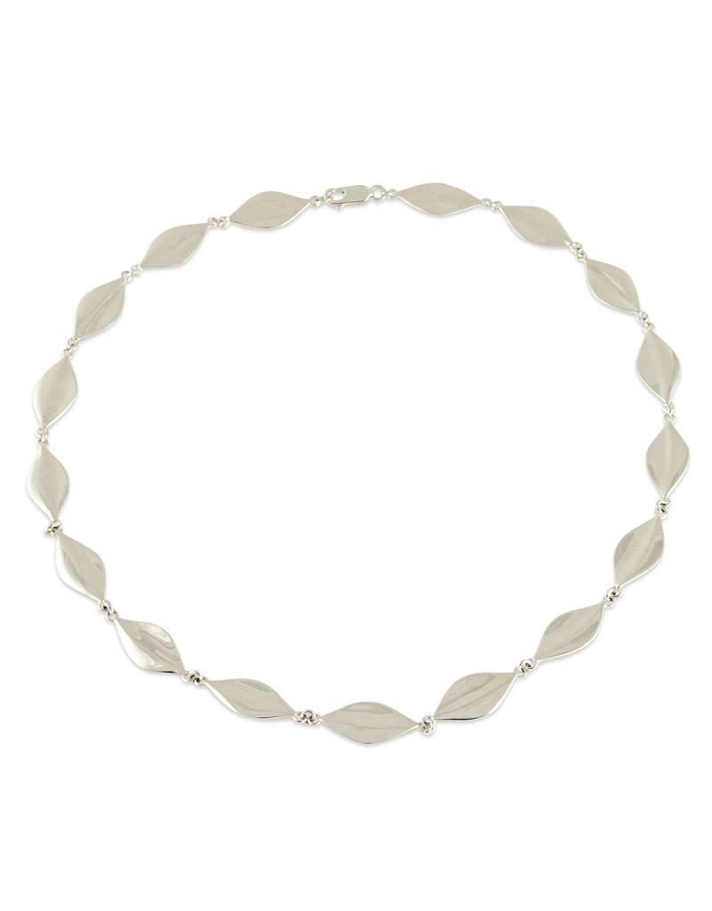 "ZINA Leaf Necklace 17"""