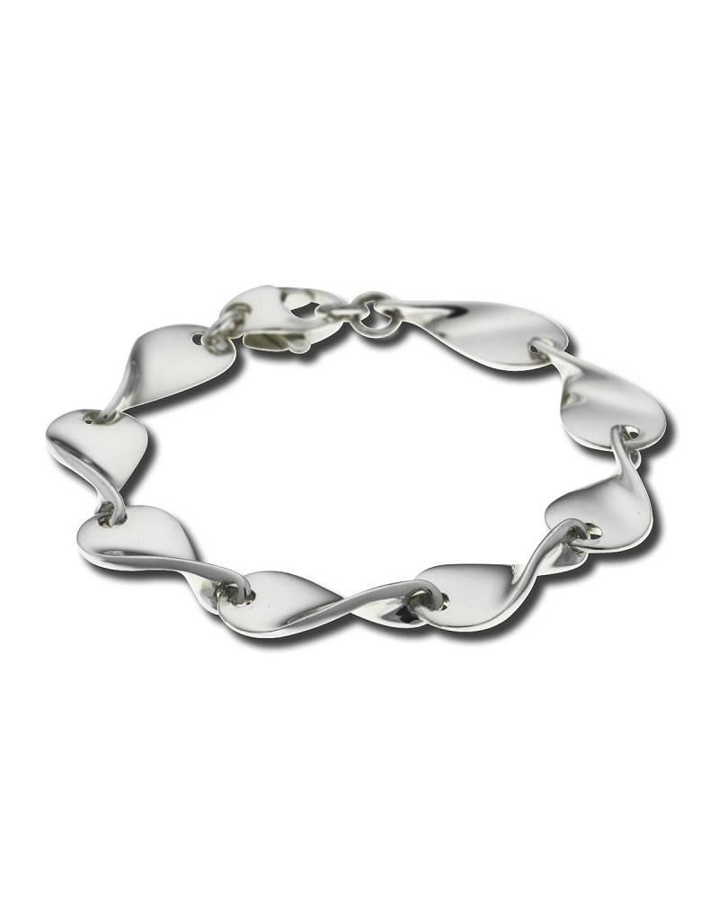 "ZINA Flat Twist Link Bracelet 7"""