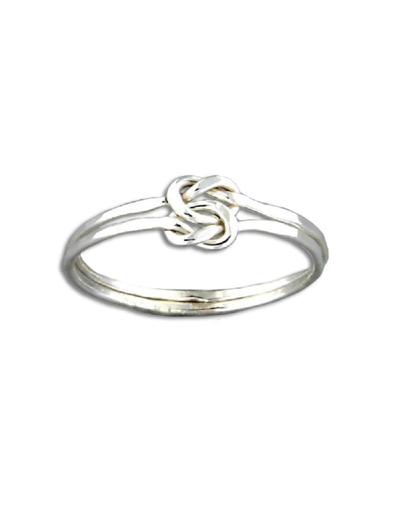 Double Knot Faceted Ring