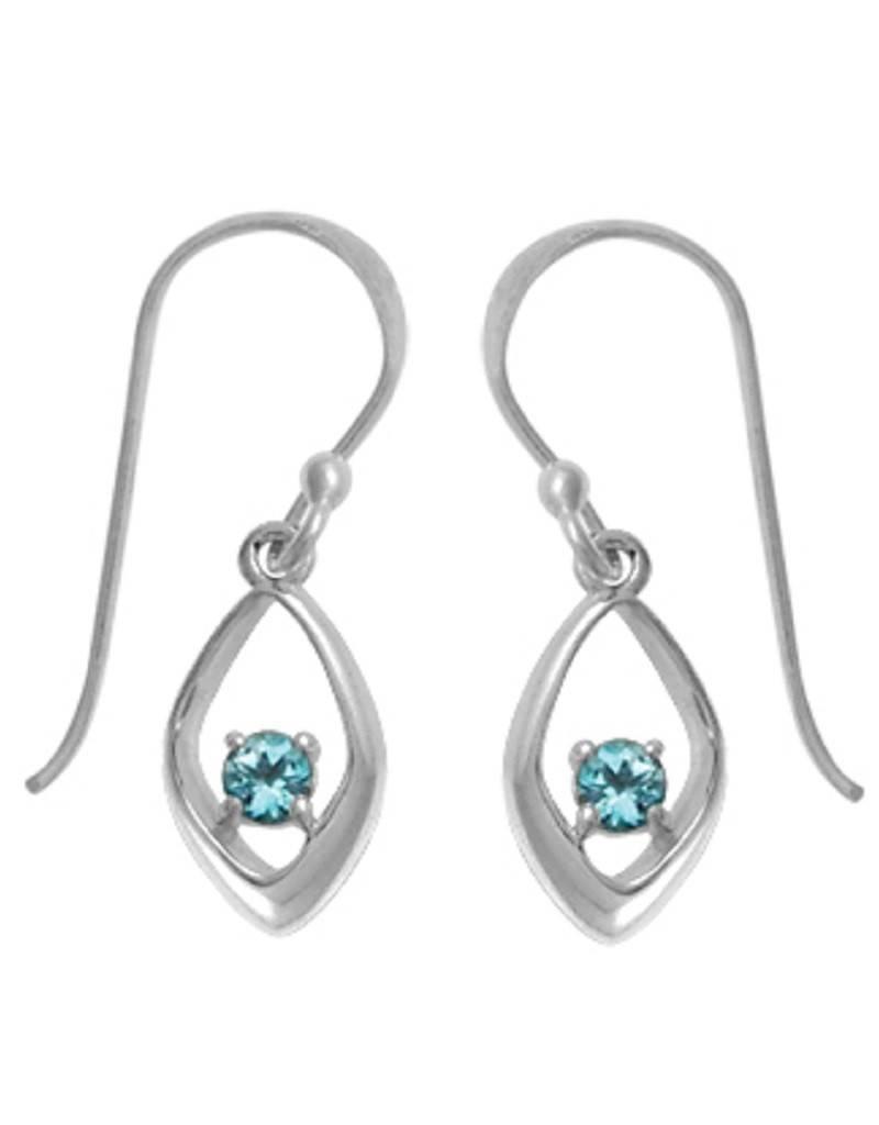 Blue Topaz Earrings 11mm