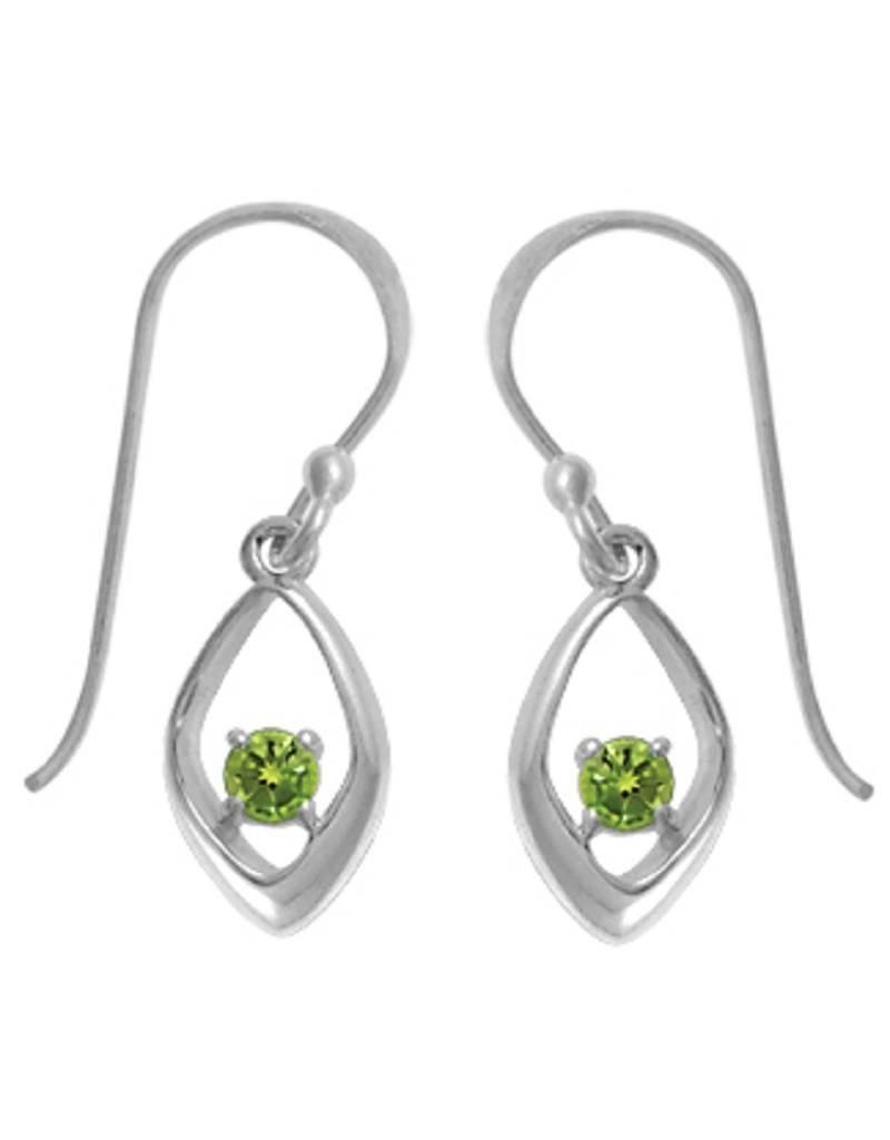 Peridot Earrings 11mm