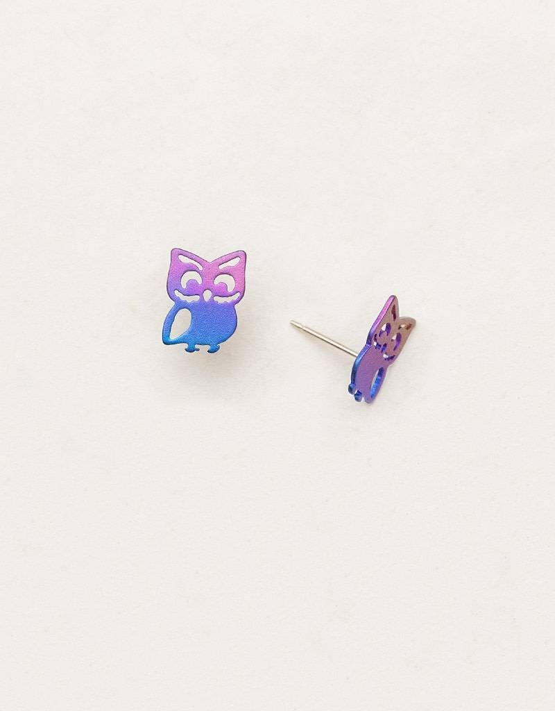 HOLLY YASHI Purple Gloria Post Earrings *90112