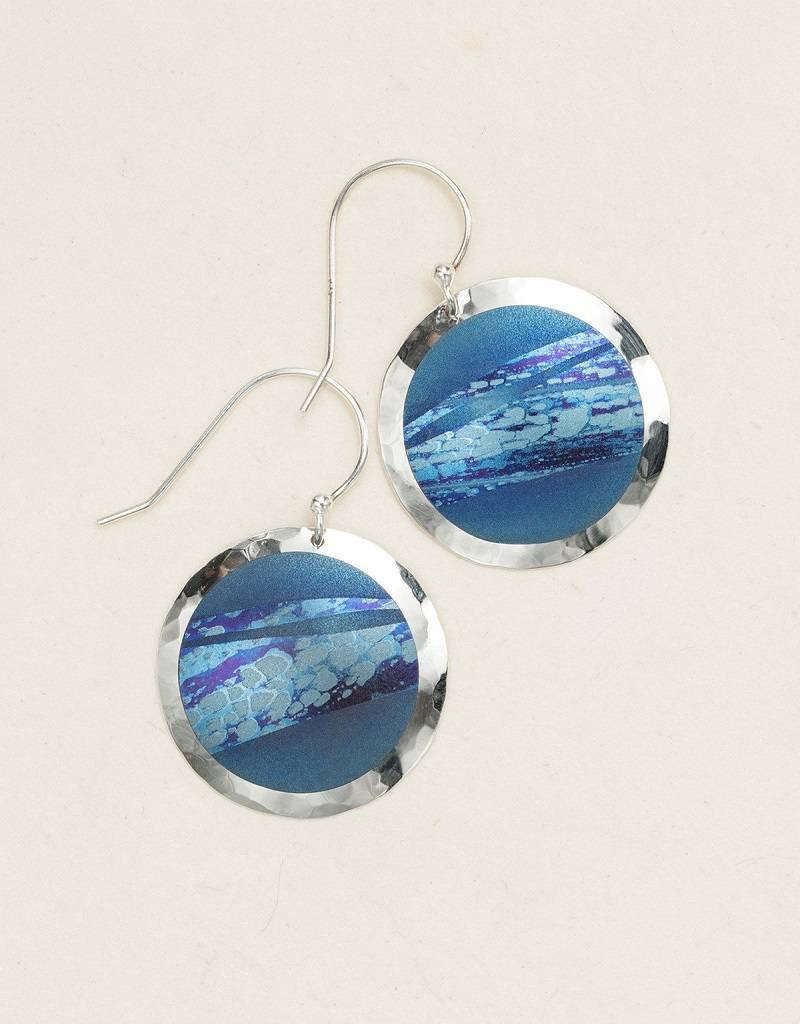 HOLLY YASHI Blue Open Sea Earrings *70062