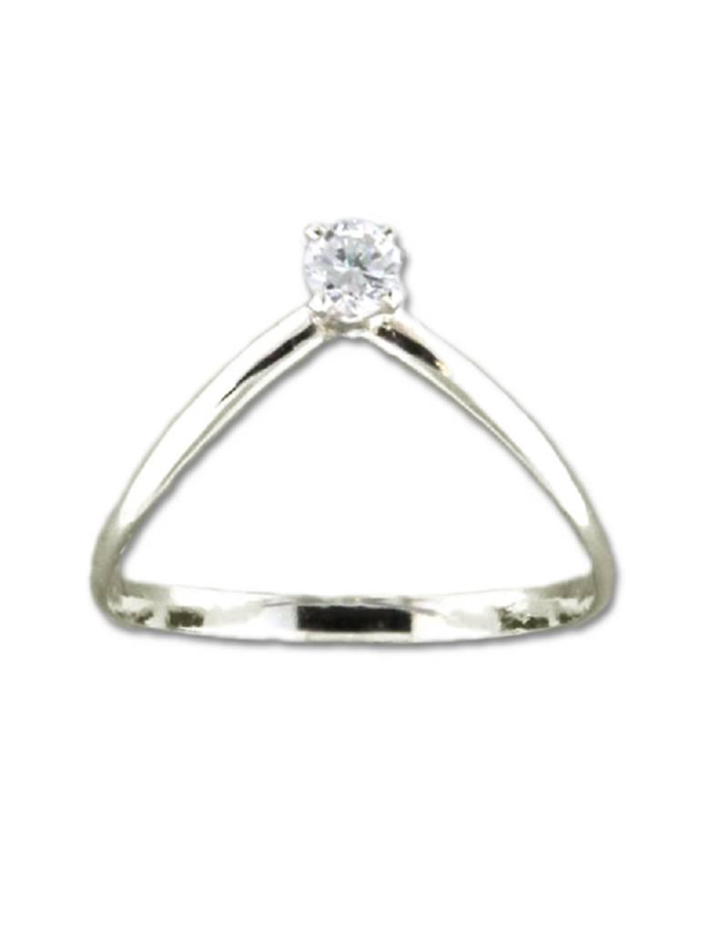 V-Shaped CZ Ring