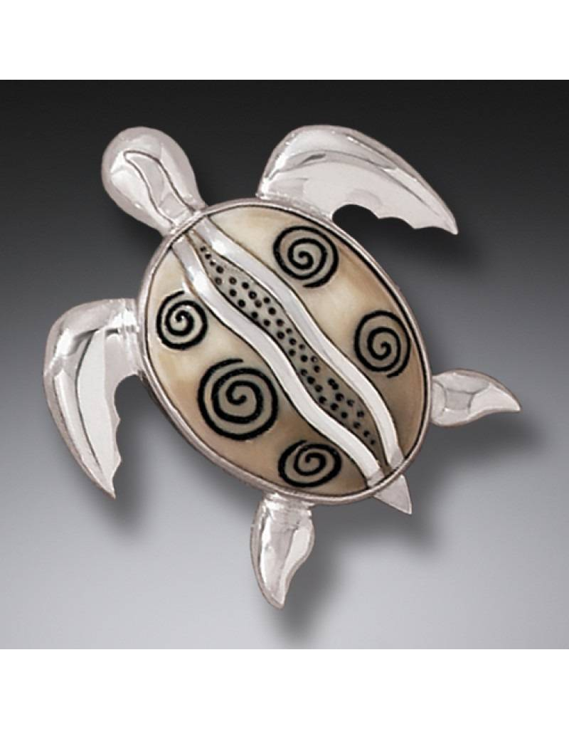 ZEALANDIA Sea Turtle Pin Pendant 36mm
