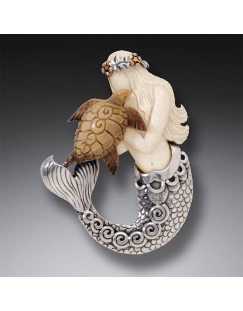 ZEALANDIA Mermaid Turtle Pendant