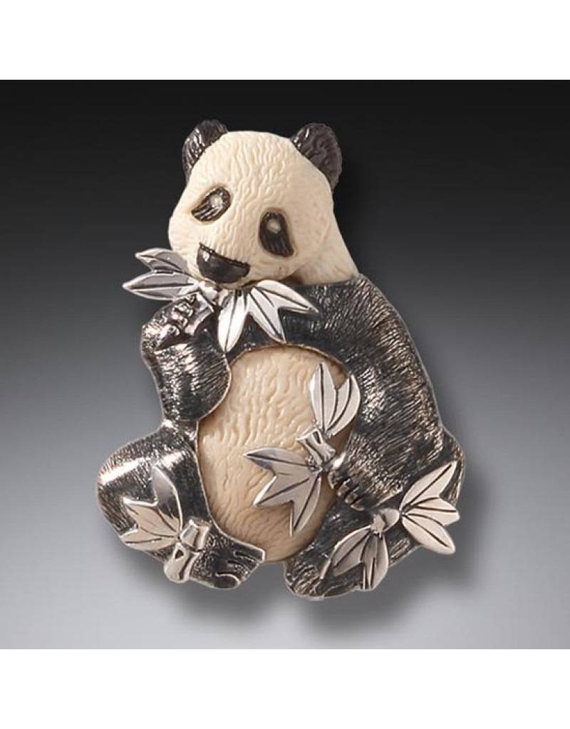 ZEALANDIA Mammoth Ivory Panda Pin Pendant