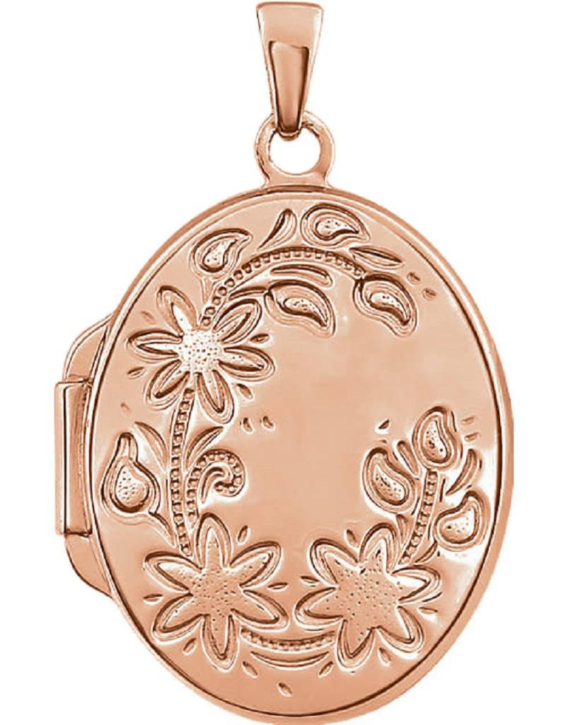 Oval Rose Gold Vermeil Locket 21mm