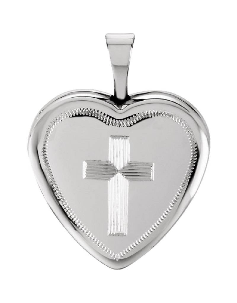 Heart with Cross Locket 16mm