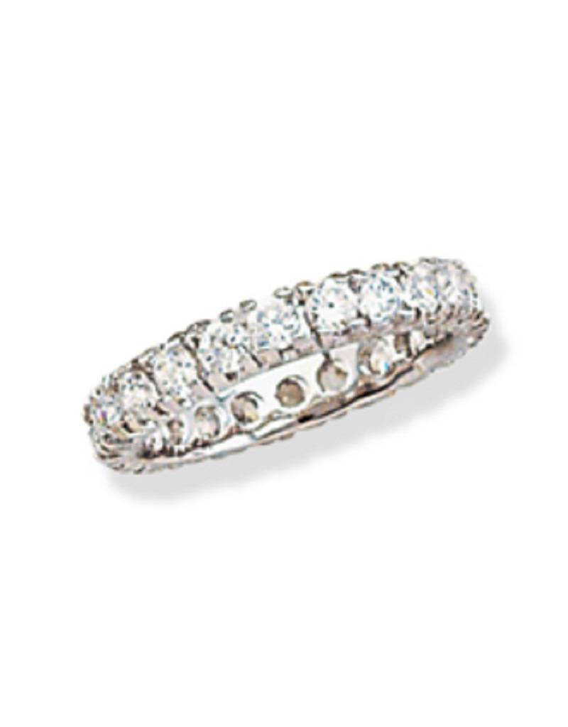 3mm CZ Eternity Band Ring