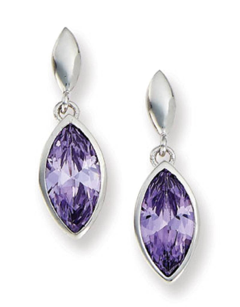 Marquise Purple CZ Earrings