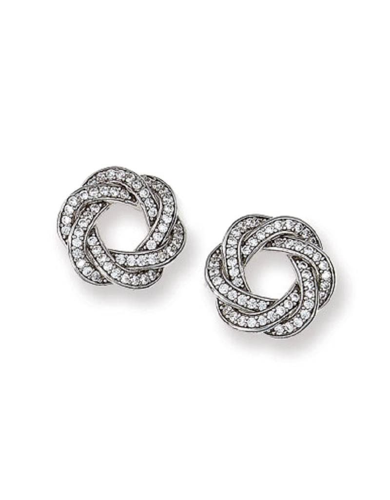 Knot CZ Post Earrings