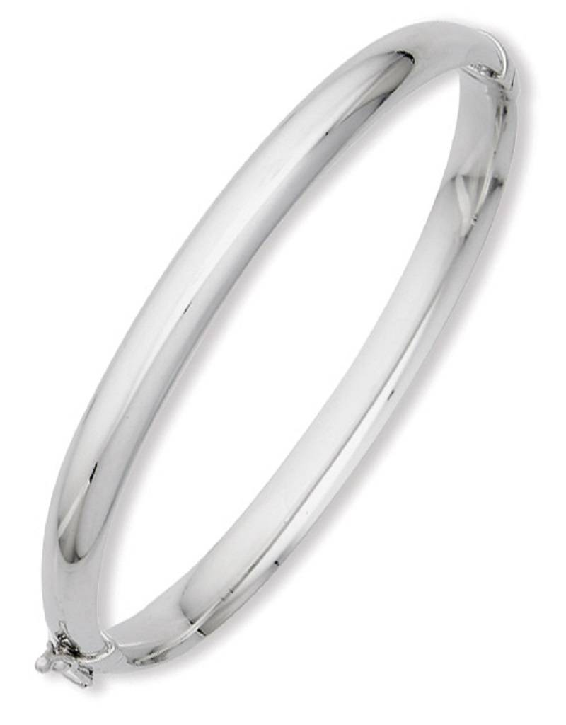 Hinged 1/2 Round Tube Bangle Bracelet