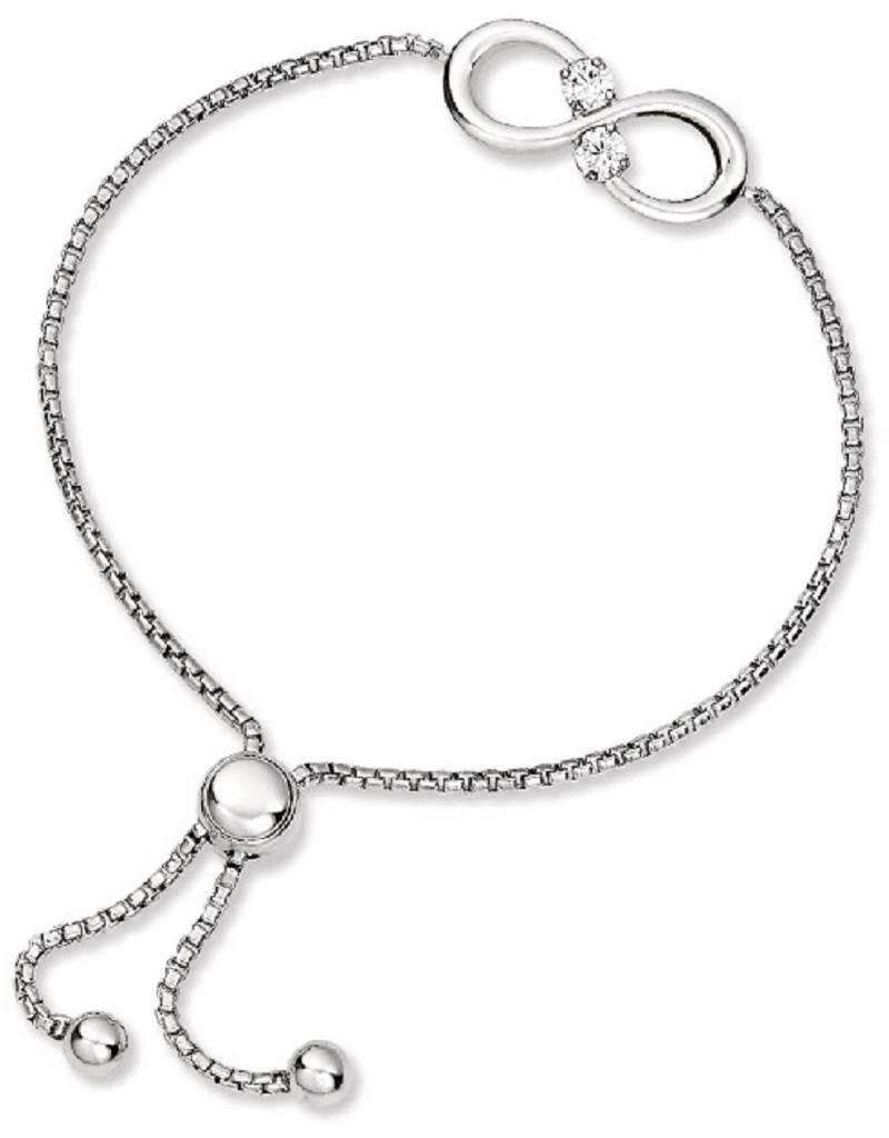 Infinity CZ Bolo Bracelet