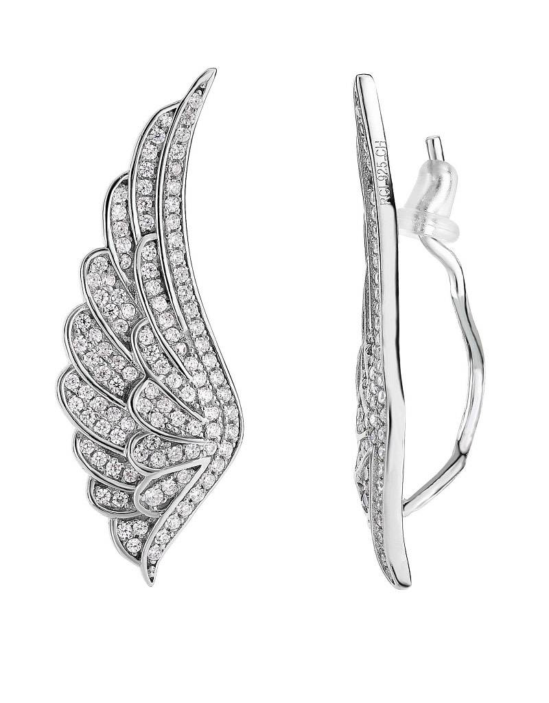 Wing CZ Ear Climber 34mm