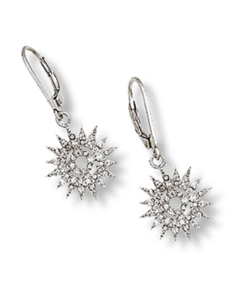 Sun Dial CZ Earrings 16mm