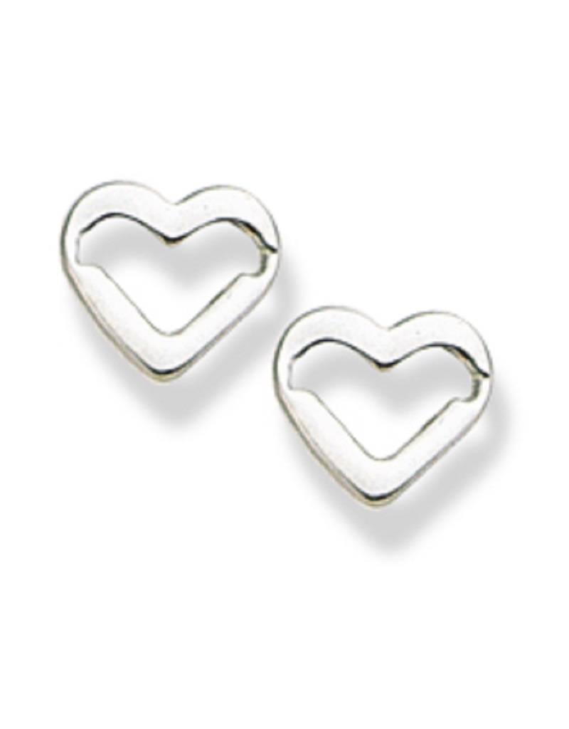 Open Heart Post Earrings 9mm