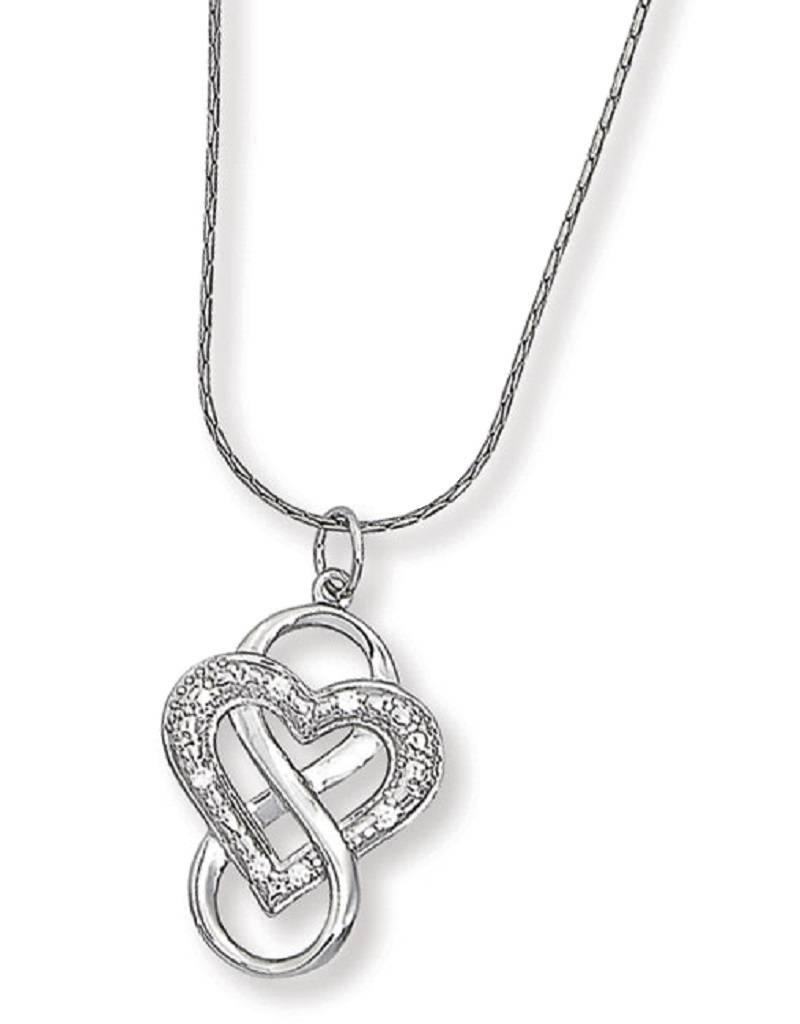 Heart Infinity CZ Necklace