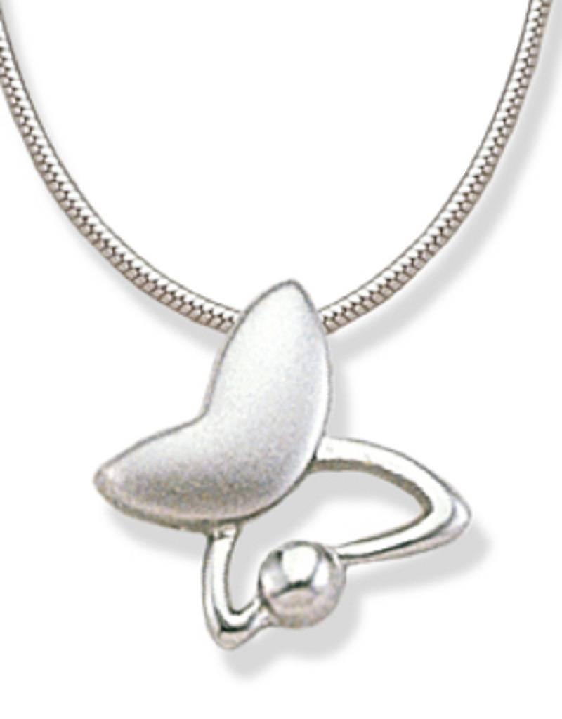 Butterfly Matte Shiny Necklace