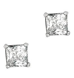 Square CZ Stud Earrings 5mm