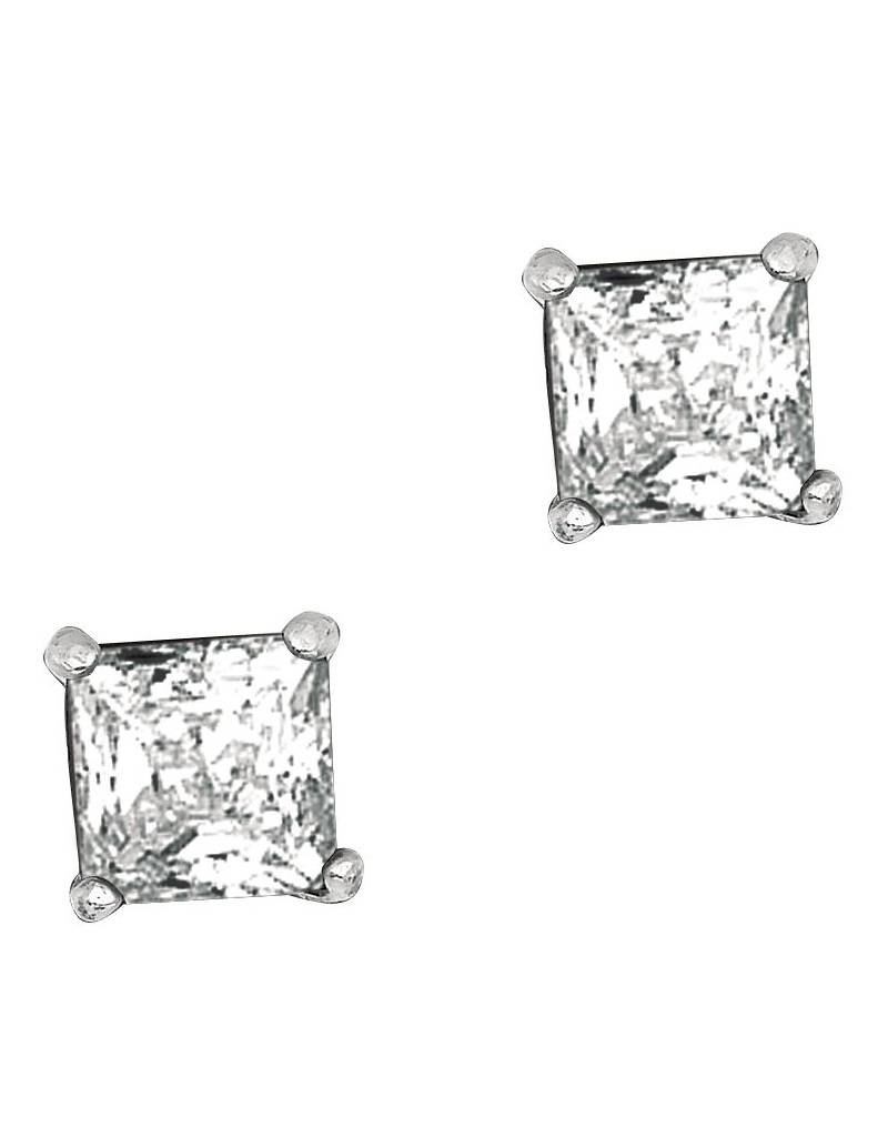 Square CZ Stud Earrings 5mm
