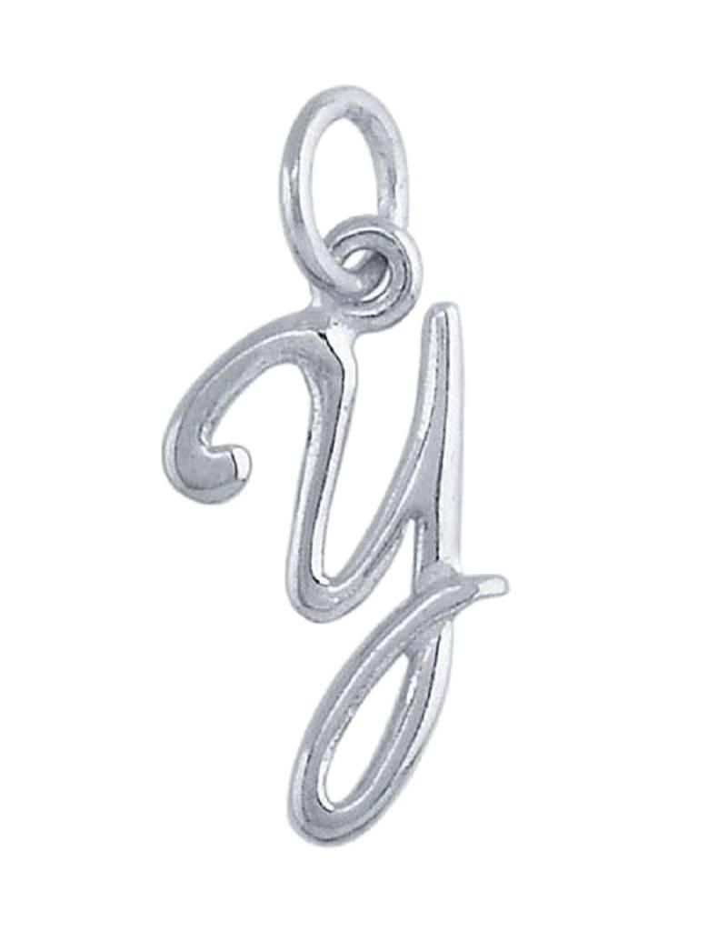 """Alphabet Charm """"Y"""" 14mm"""