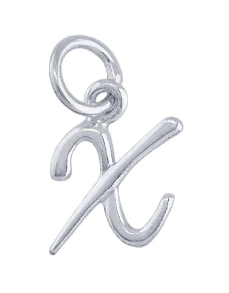 "Alphabet Charm ""X"" 11mm"