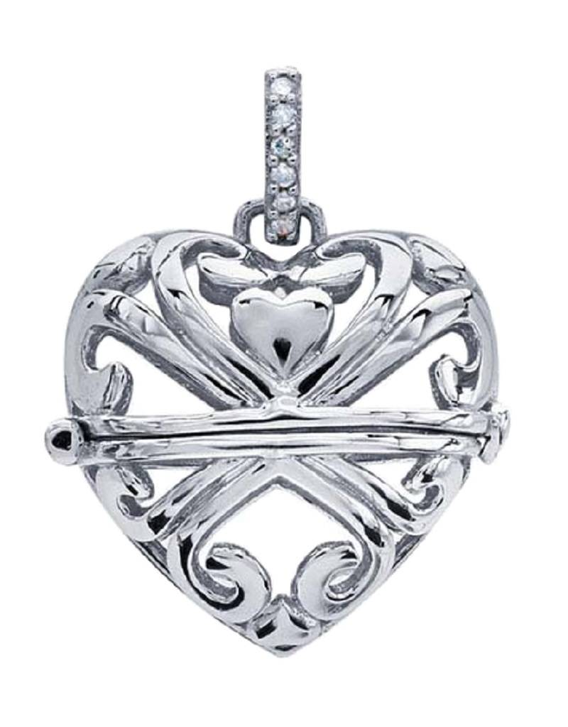 Filigree Heart Locket 24.5mm
