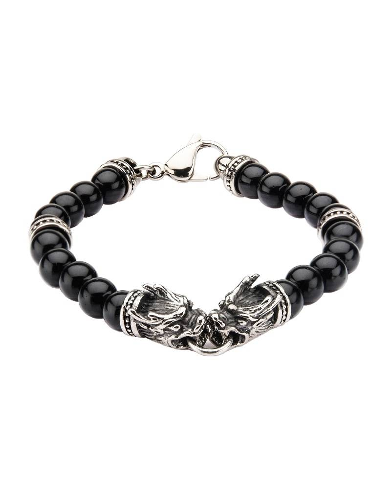 "Dragon Onyx Bracelet 8.5"""