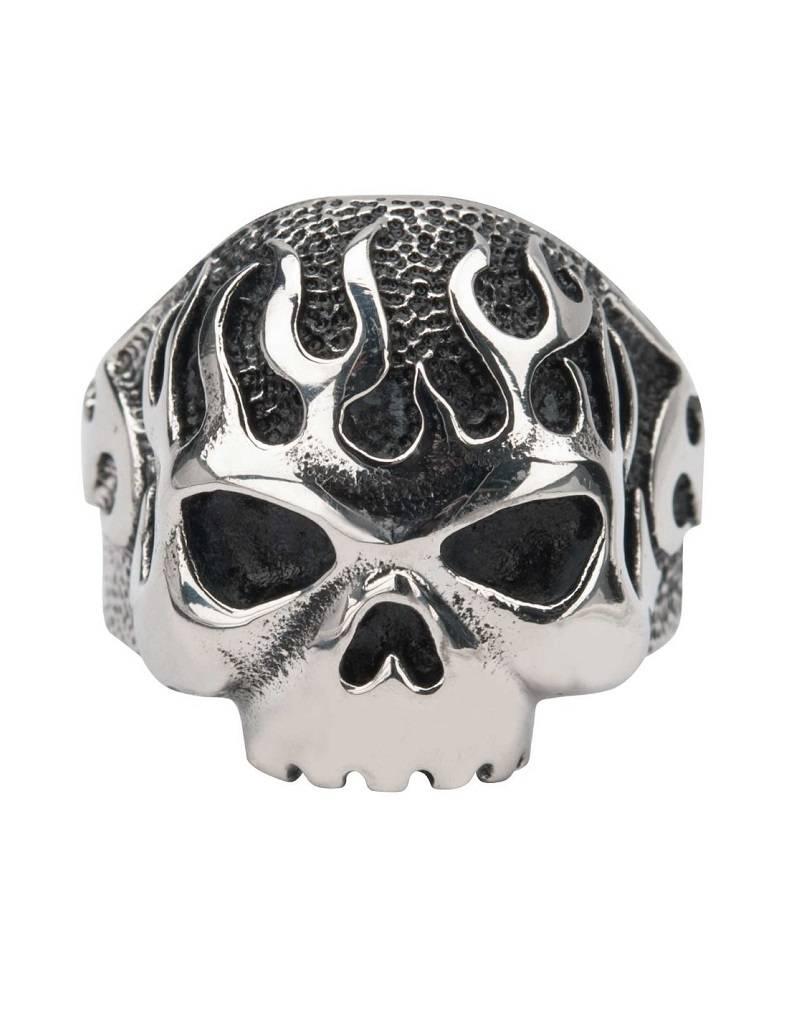Skull Flame Ring