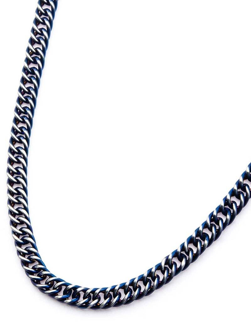 Steel Blue Double Curb Necklace 22""