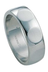 Men's Stainless Steel Dimpled Band Ring