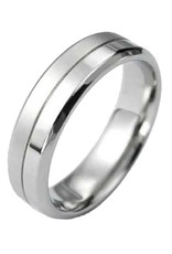 Men's Stainless Steel Matte/Shiny Finish Band Ring